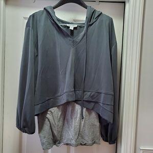 Layered maternity sweatshirt